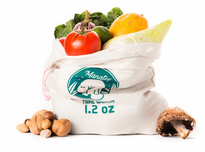 Organic Reusable Produce Manatee Bag