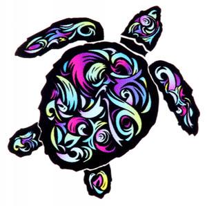 Swirl Turtle Decal