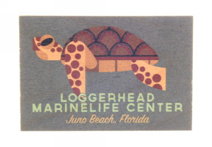 Keep Swimming Sea Turtle Wood Magnet