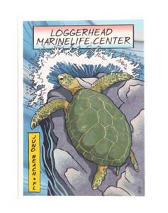 Sea Turtle Woodblock Magnet