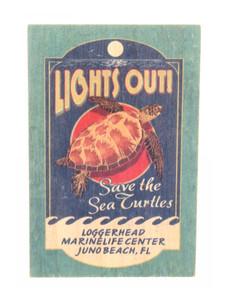 "Vintage Sign ""Save The Sea Turtles"" Wood Magnet"