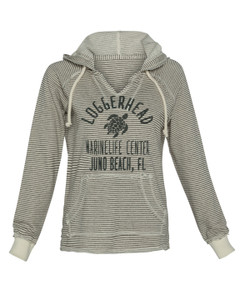 Baffled Sea Turtle V Neck Ladies Hoodie