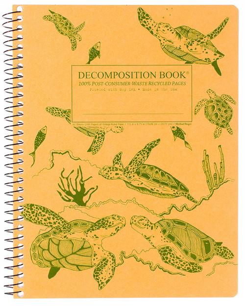 Sea Turtles Decomposition Spiral Notebook