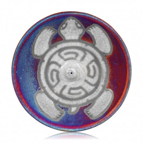 Sea Turtle Incense Burner - Raku