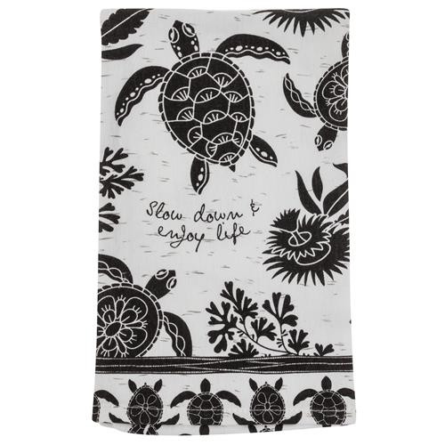 Boho Tea Towel - Slow Down & Enjoy Life