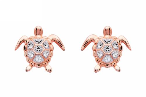 Turtles Rose Gold Stud Earrings - ShanOre
