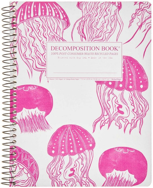 Jellyfish Decomposition Spiral Notebook