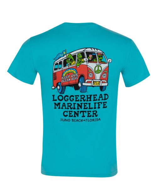 Turtle Bus Peace Unisex Short Sleeve Shirt