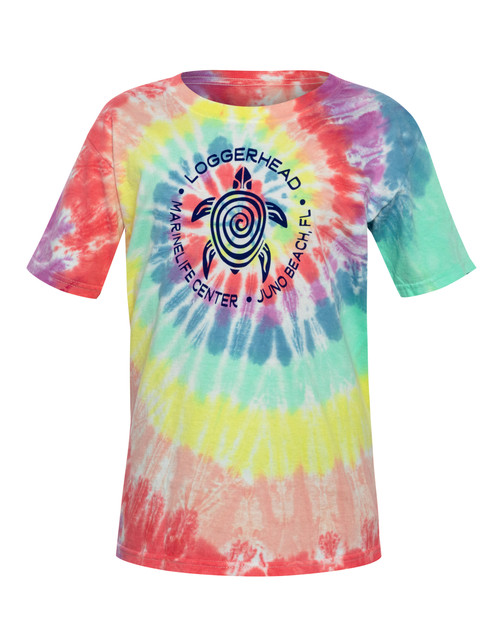 Pure Turtle Crinkle Spiral Tie Dye Youth Shirt