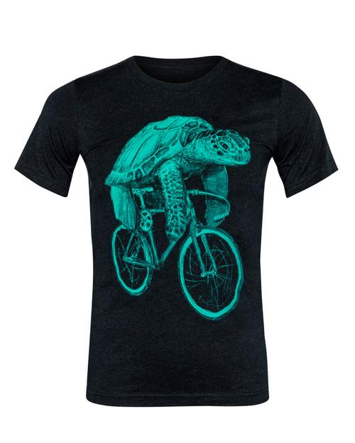 Sea Turtle on a Bike Men's Tee