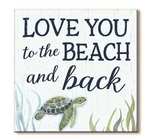Love You to the Beach and Back Wood Block