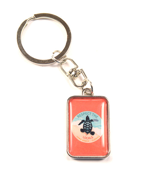 Respect The Locals Hatchling Keychain