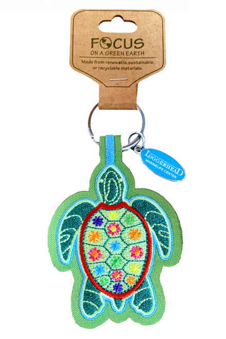 Turtle Eco-Friendly Fabric Keychain