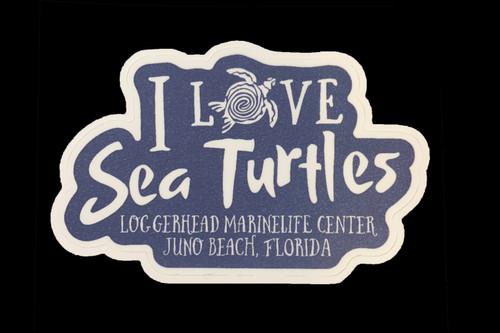 I Love Sea Turtle Sticker