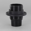 Black Candelabra Base Phenolic Socket with Threaded Outer Shell and Ring