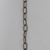 13 Gauge (1/16in) Steel Small Rectangle Steel Chain - Antique Brass Finish