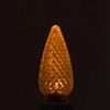 C9 LED 0.6W Yellow E17 120V bright LED bulb