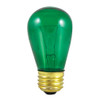 11W Green Indicator E-26 Base S14 Style Bulb