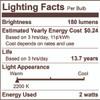 2.5W LED G16 2200K FILAMENT NOSTALGIC E12 FULLY COMPATIBLE DIMMING BULB