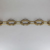 1/8in. Thick Cast Brass Medium Scroll Lamp Chain - Unfinished Brass