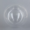 12in Diameter X 4in Fitter Round Acrylic Ball - Clear.
