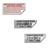 Fixture Safety Labels
