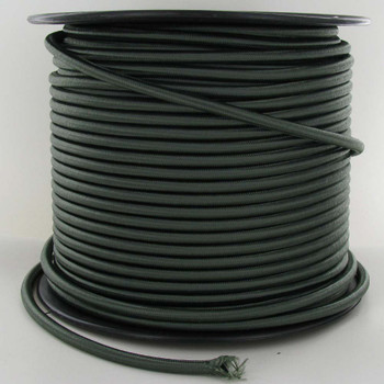 16/3 SJT-B Forest Green Nylon Fabric Cloth Covered Lamp and Lighting Wire.