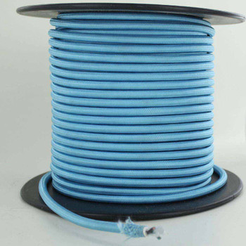 16/3 SJT-B Light Blue Nylon Fabric Cloth Covered Lamp and Lighting Wire.