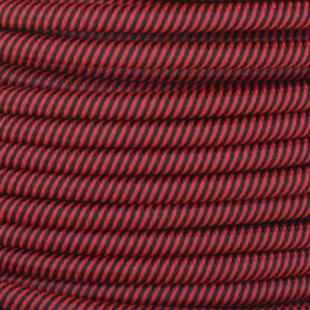 16/3 SJT-B Black/Red Swirl Pattern Nylon Fabric Cloth Covered Lamp and Lighting Wire.