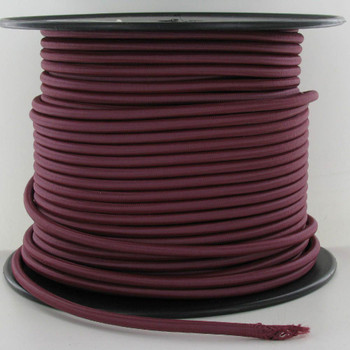 16/3 SJT-B Burgundy/Wine Nylon Fabric Cloth Covered Lamp and Lighting Wire.
