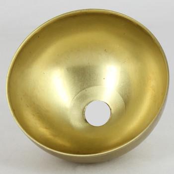 2-1/2in. Diameter Half Ball - Inner Piece - 1/8 ips. Slip - Unfinished Brass
