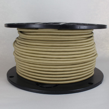 16/3 SJT-B Antique Gold Nylon Fabric Cloth Covered Lamp and Lighting Wire.