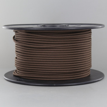 16/1 Brown Cloth Covered  AWM Stranded Wire with Decorative Braid