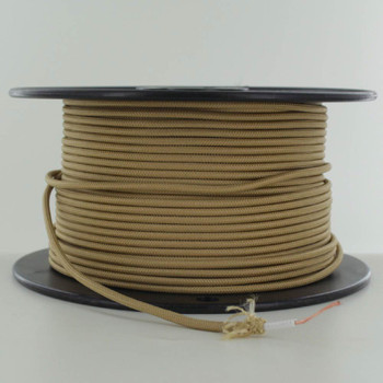 16/1 Gold Cloth Covered  AWM Stranded Wire with Decorative Braid