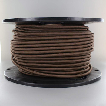 18/3 SJT-B Brown Nylon Fabric Cloth Covered Lamp and Lighting Wire.