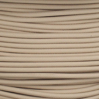 16/1 Beige Cloth Covered  AWM Stranded Wire with Decorative Braid