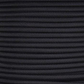 16/1 Black Cloth Covered  AWM Stranded Wire with Decorative Braid