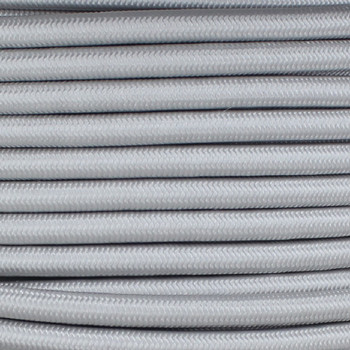 18/3 SJT-B Silver Nylon Fabric Cloth Covered Lamp and Lighting Wire.