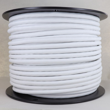 18/5 - White Cloth Covered  5 Conductor SJT-B Lamp and Lighting Wire.