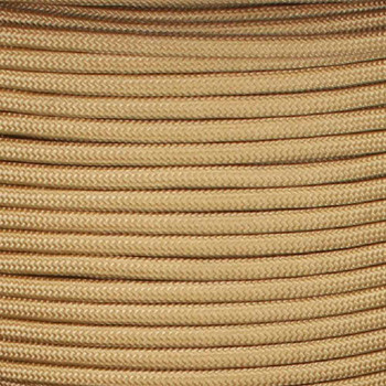 22/2 Gauge Flat Parallel Gold Cloth Nylon Covered French Style Fixture Wire.