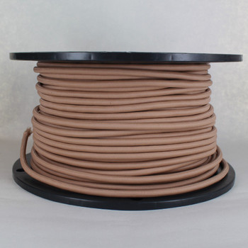 16/3 SJT-B Hazelnut Nylon Fabric Cloth Covered Lamp and Lighting Wire.
