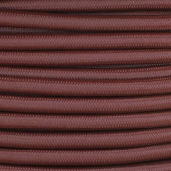 16/3 SJT-B Mahogany Nylon Fabric Cloth Covered Lamp and Lighting Wire.