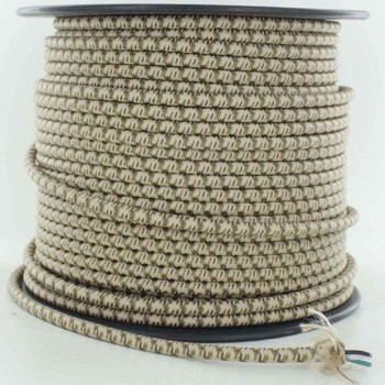 16/3 SJT-B Desert Camo Pattern Nylon Fabric Cloth Covered Lamp and Lighting Wire.