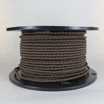 Bark 18/3 Bungalow Style Twisted AWM Wire with Fabric Cloth Over braid.