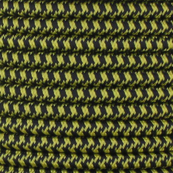 16/3 SJT-B Black/Yellow Hounds Tooth Pattern Nylon Fabric Cloth Covered Lamp and Lighting Wire.