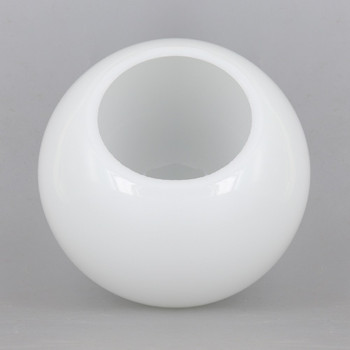 6in Diameter X 3in Neckless Hole  Opal Milk White Glass Globe. - Made in the USA
