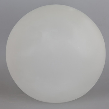6in Diameter X 3in Neckless Hole  Clear Bristol Frosted White Glass Globe. - Made in the USA
