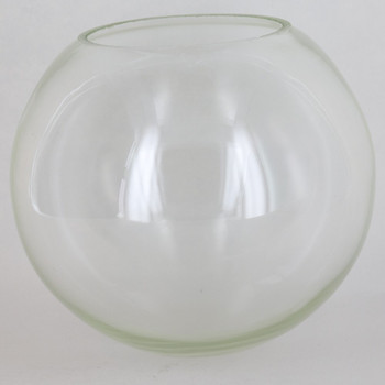 6in Diameter X 3in Neckless Hole  Clear Glass Globe. - Made in the USA