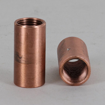 1/8ips Threaded Neck Coupling - Unfinished Copper