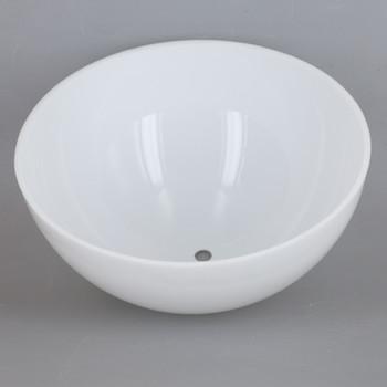 8n Diameter White Acrylic Hemisphere with 1/8ips Slip 7/16in Diameter Center Hole